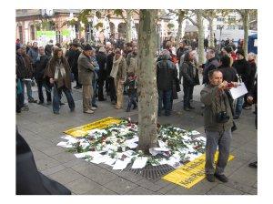 Schweigen für Opfer rechter Gewalt