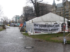 Occupy Camp Frankfurt am 31.12.2011