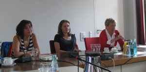 SPD-Frauenfrühstück am 30.6.2013 (von links: Andrea Ypsilanti, Katja Kraus, Ulli Nissen)