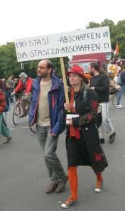 Gemeinsame Ziele: der ehemalige politische Geschäftsführer der Piraten Johannes Ponader und Anke Domscheit-Berg