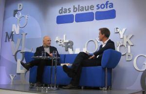 Buchpreisträger 2015 Frank Witzel auf dem blauen Sofa